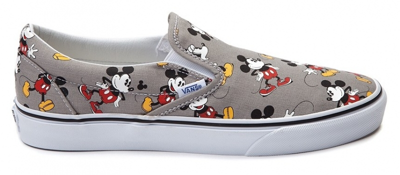 vans disney mikey mouse slip on