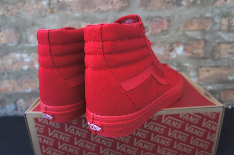 Vans All Red High Tops