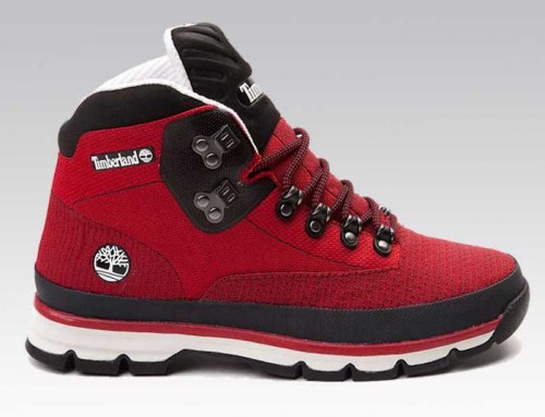 Timberland Euro Jacquard Boots Red Black