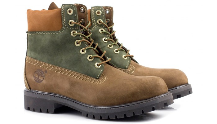 Timberland 6 Inch Premium Brown Green Sale $89.99 1