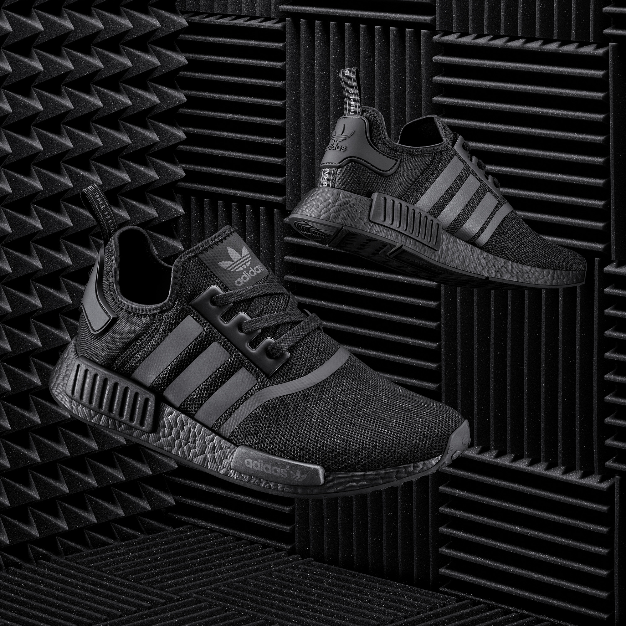 Adidas Nmd Triple Black And Red Color Boost Pack Soleracks