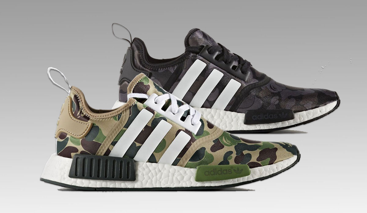 Adidas X Bape Shoes Nmd