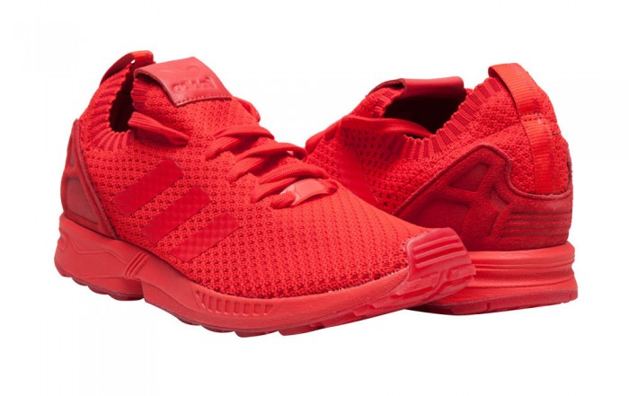 adidas ZX Flux Primeknit Mono Red Sale $79.98