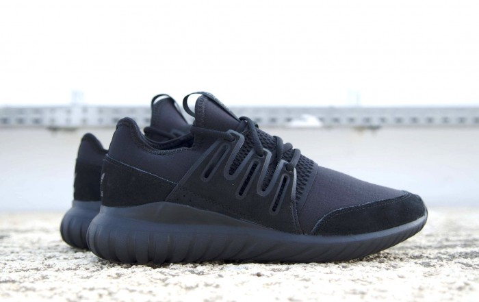 adidas Tubular Radial Mono Triple Black Sale