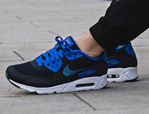 Nike Air Max 90 Ultra Essential Black Blue Sale $79.98