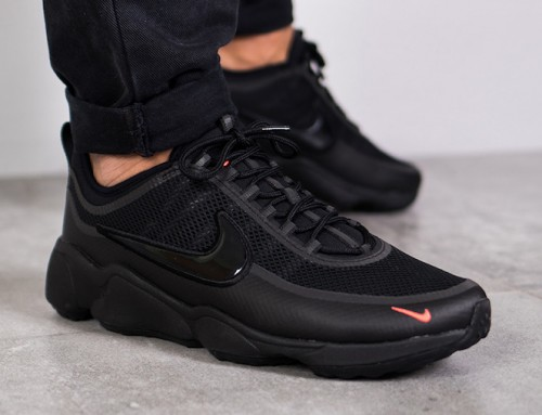 Nike Zoom Spiridon Ultra Sneaker Black Crimson Sale $89.98