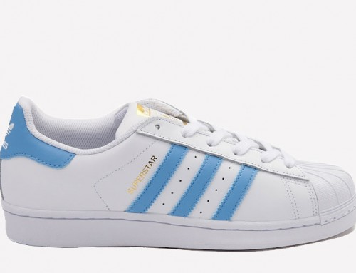 adidas Superstar White Carolina Blue For Summer 2017