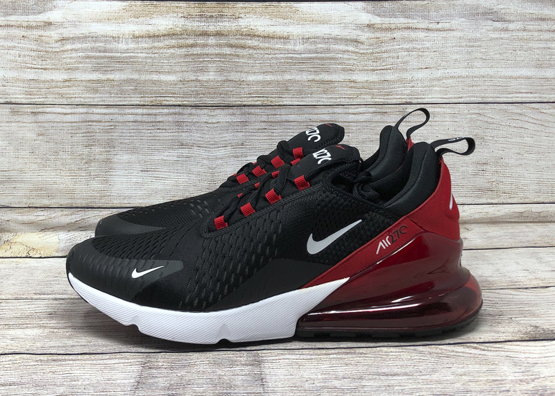 Nike Air Max 270 Black University Red Soleracks