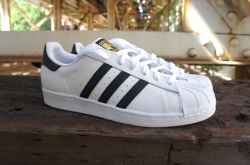 adidas superstar white black gold