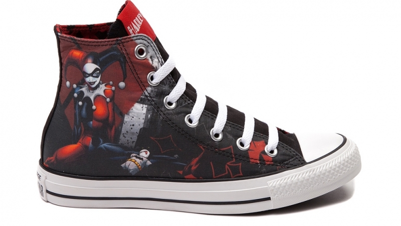 Two Pairs Of Joker And Harley Quinn Converse Shoes