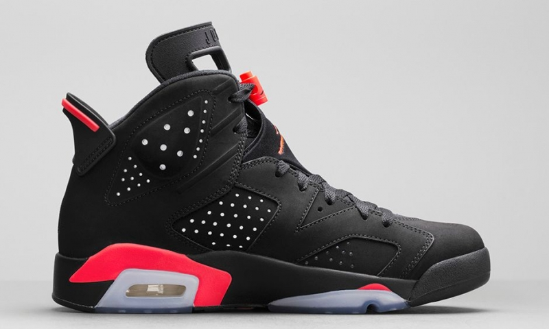 Air Jordan 6 Noir 3m Infrarouge Serrure Double