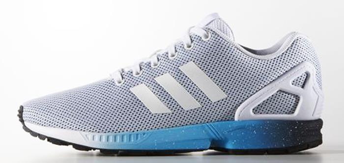 adidas zx flux white and blue- OFF 52