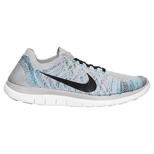 Nike Free 4.0 Flyknit Grey Blue Sale $69.99 Soleracks