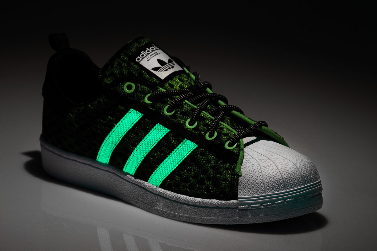 adidas Superstar Glow In The Dark Green
