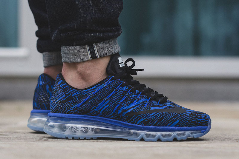 new arrival f25be 211f9 Nike Air Max 2016 Print Racer Blue and White - Soleracks
