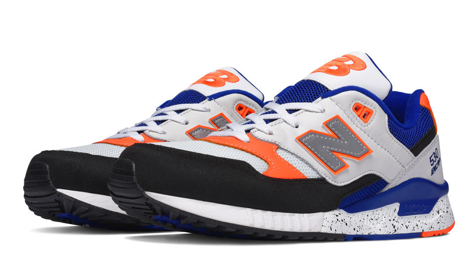 New Balance 530 90s Leather Blue Orange | Soleracks