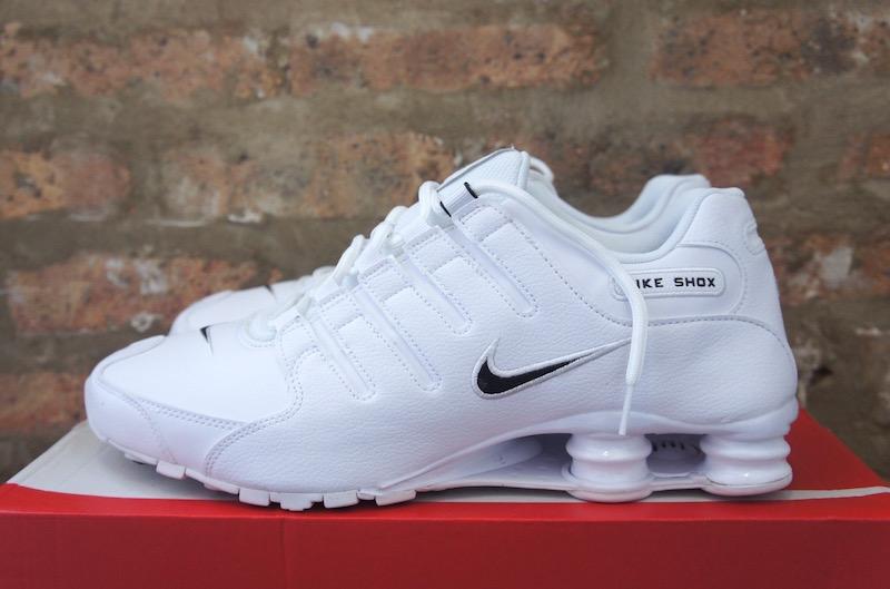 Nike Shox NZ EU Mono White Sneaker Sale $79.98 Soleracks