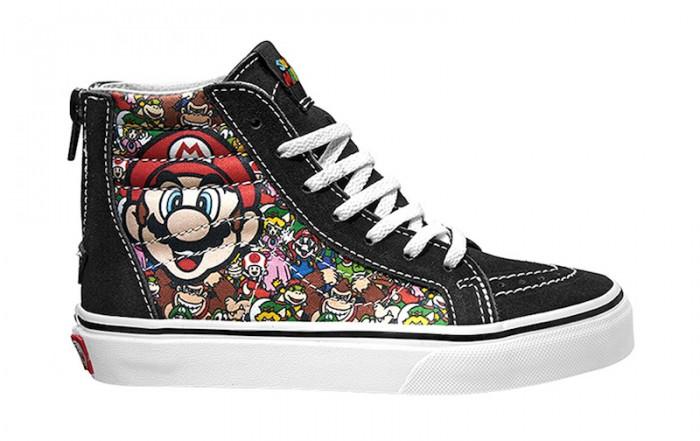 04a4574f107184 Vans Nintendo Shoes and Apparel Collab · Vans VAN DOREN SK8-HI REISSUE 1