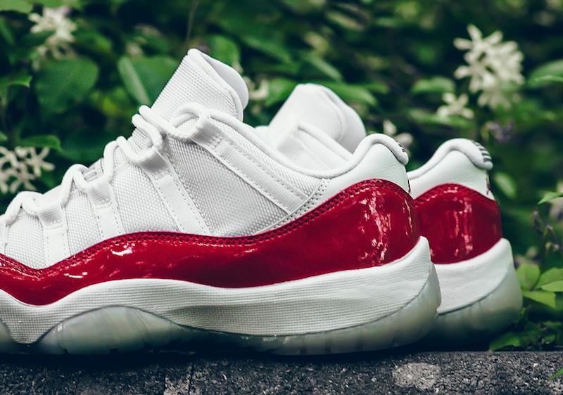 Air Jordan 11 Retro Low u0026quot;Cherryu0026quot; Varsity Red White - Soleracks