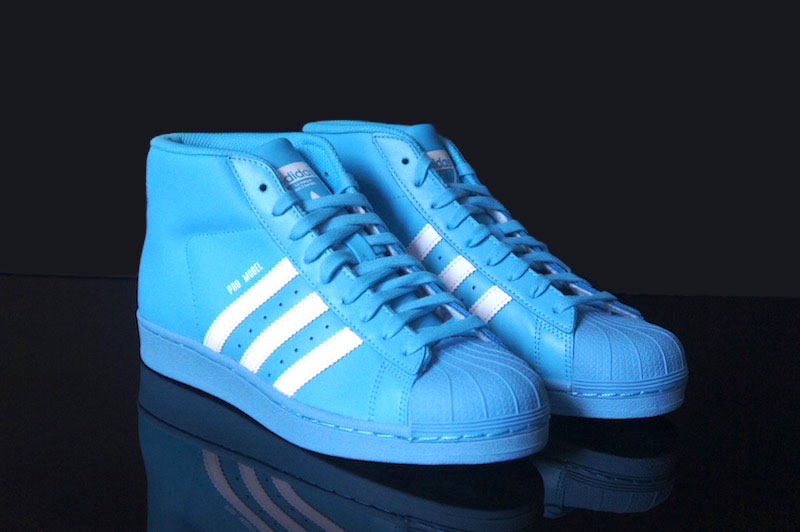 Blue Adidas High Top Pro Basketball Shoes