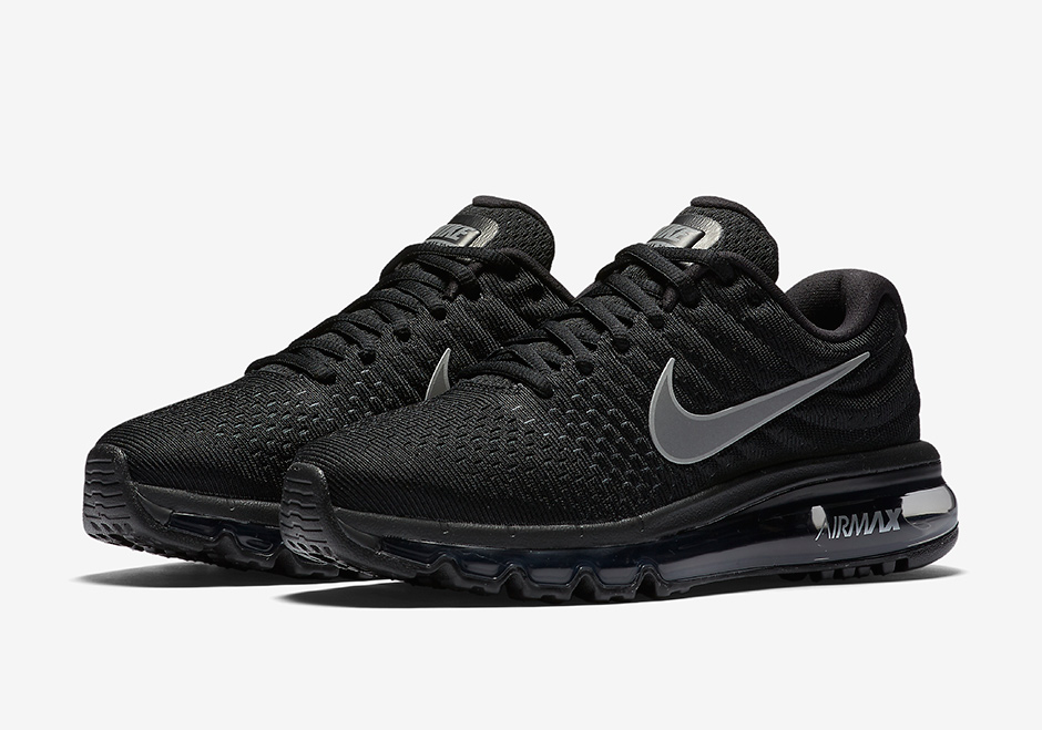 All Black Nike Air Max Running Shoes