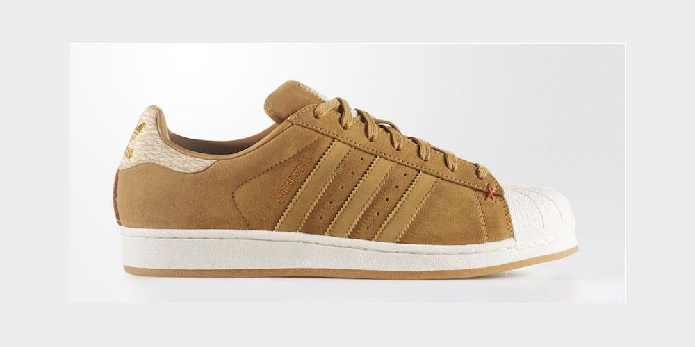 adidas superstar suede brown