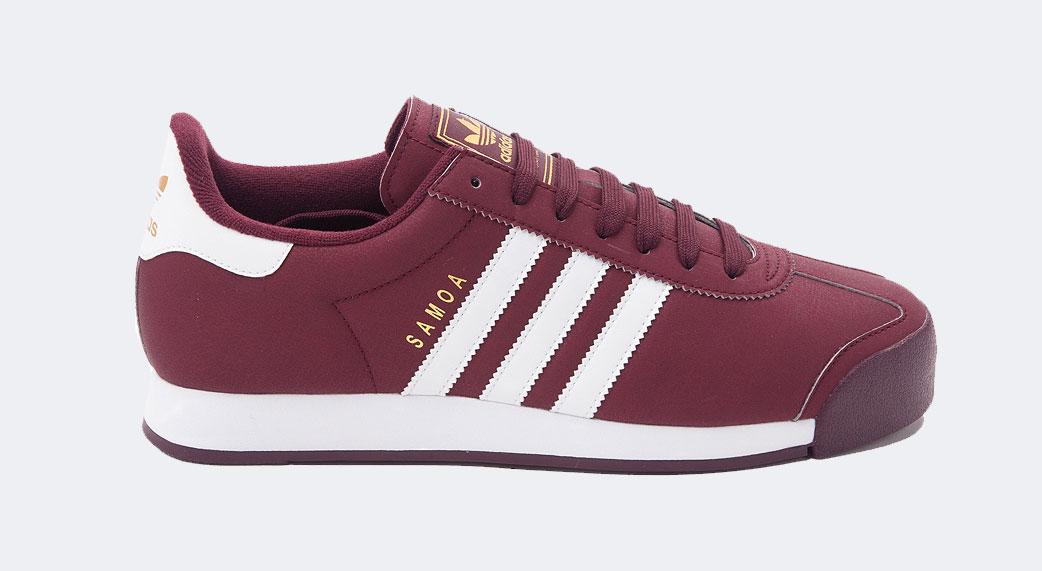 burgundy adidas samoa Online Shopping