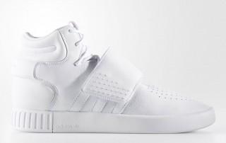 adidas invader strap leather tripe white