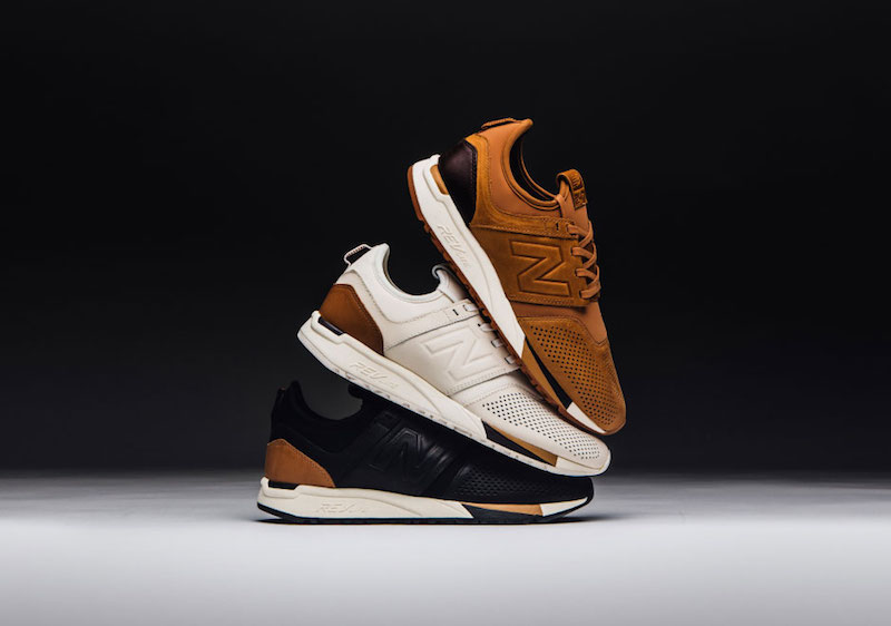 new balance 247 luxe brown leather