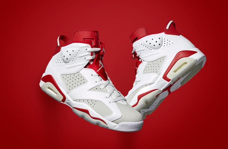 Air Jordan 6 Retro Alternate White Red