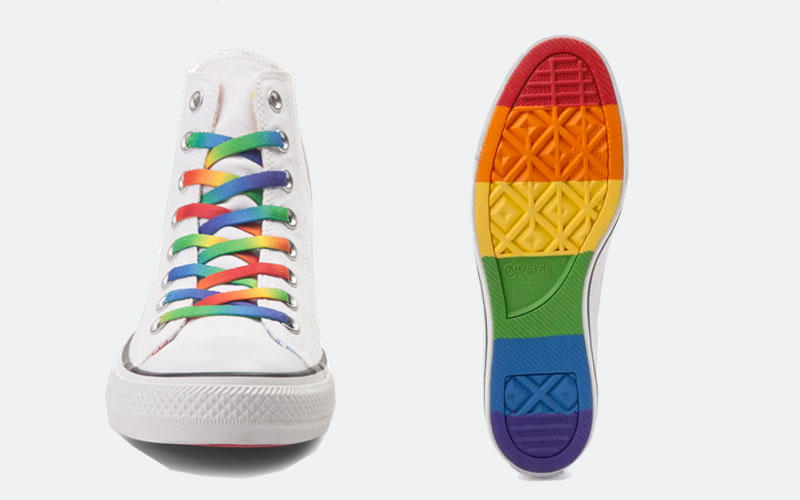 a9b1b12aa90 The Converse LGBT Pride Shoes Collection has been a constant presence every  summer and in 2017 there will be no different. Converse joined years ago  the ...