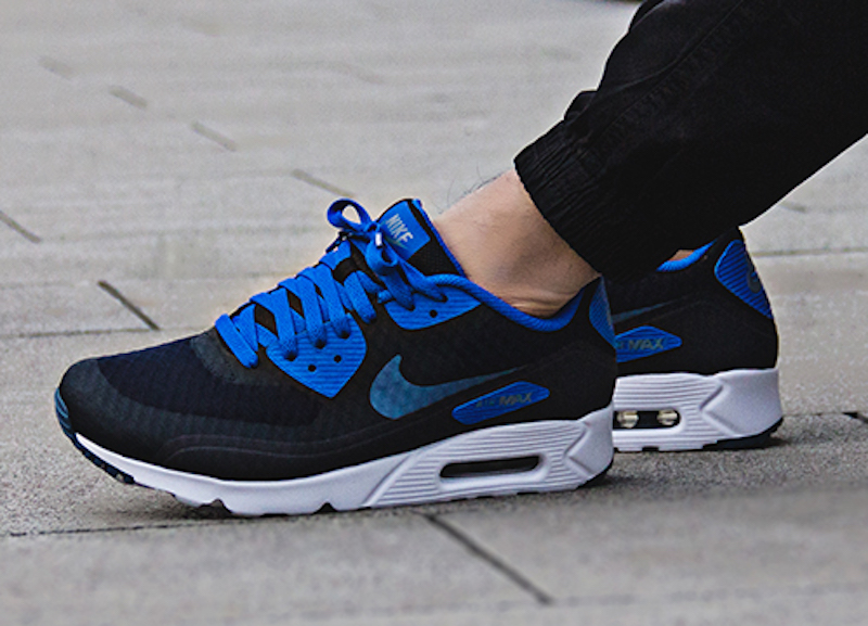 air max 90 black white blue