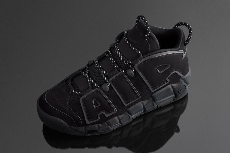 Nike Air More Uptempo Triple Black Incognito