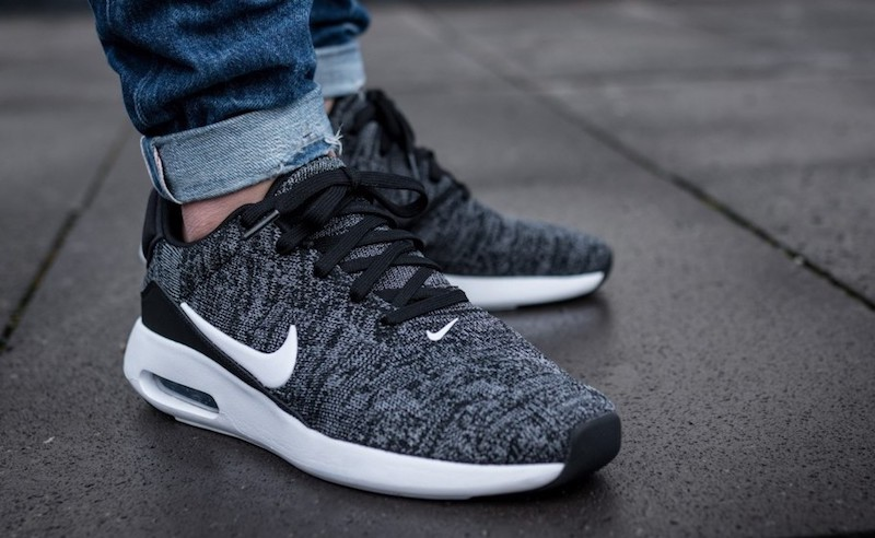 Nike Air Max Modern Flyknit Black White Sale $69.98 Soleracks