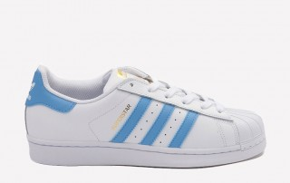 adidas Superstar white carolina blue