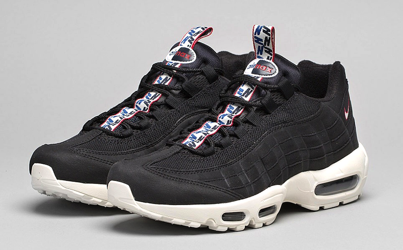 big sale a5c08 1669b Nike Air Max 95 Black Sail Gym Red