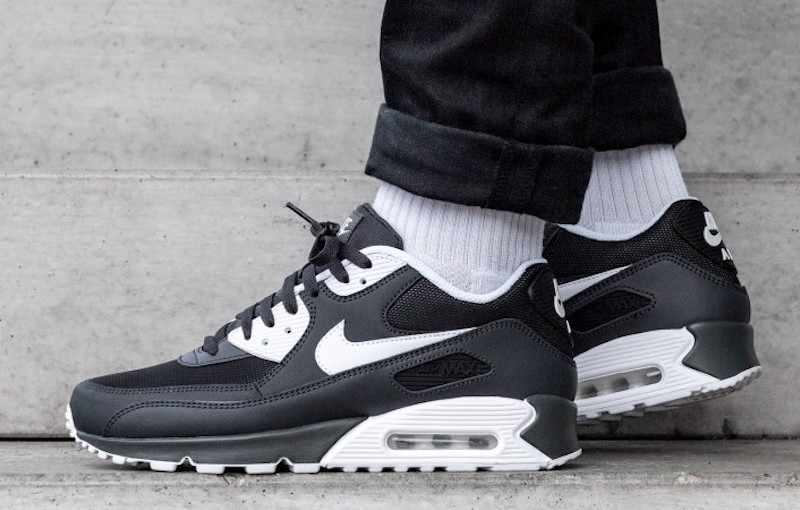 Now Available Nike Air Max 90 Anthracite White Black Soleracks