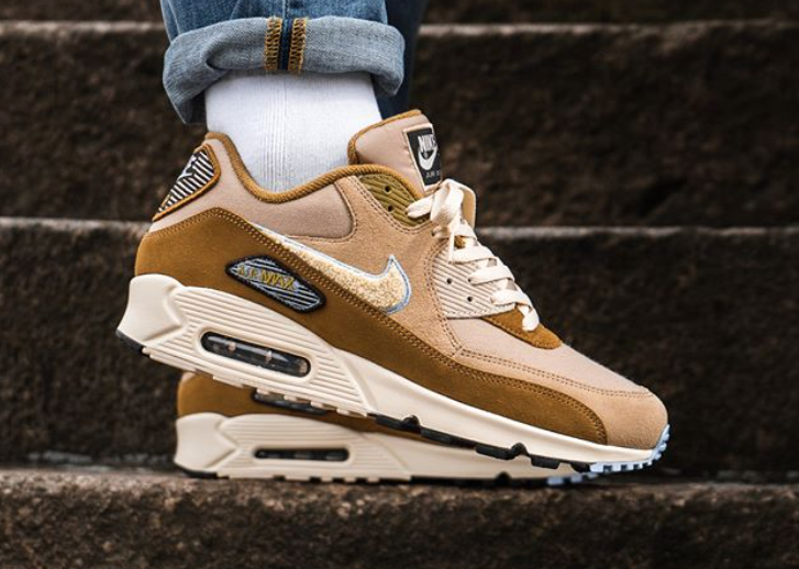 NIKE Air Max 90 Essential Mens bronze blue $ 99.99 Soleracks
