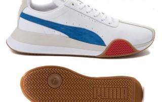 New Puma Roma Turin Leather Mens sneaker white blue gum