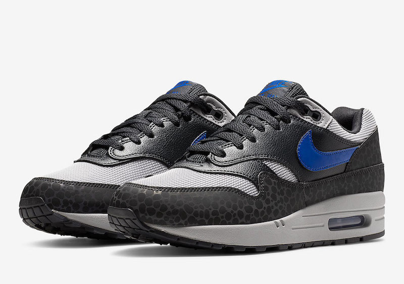 72ff2b3118 Nike Air Max 1 Reflective Safari Gray Blue Sale