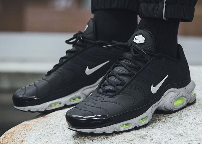 Nike Air Max Plus Black Matte Silver Sale 815994 003