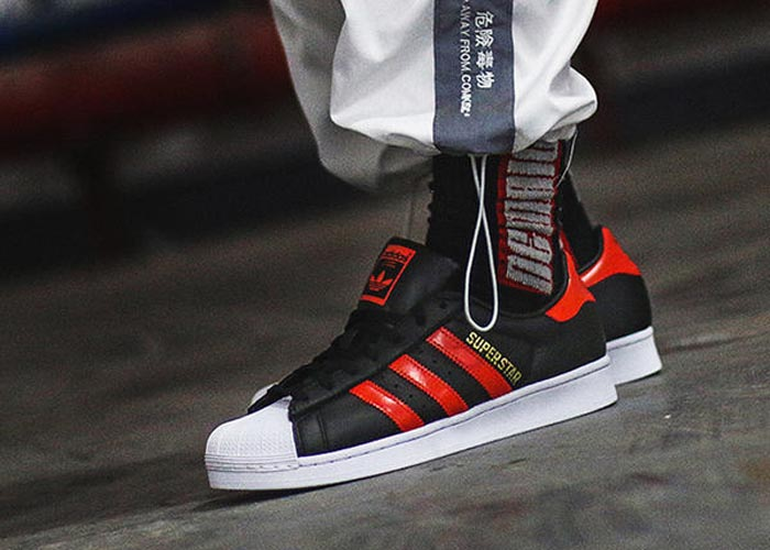 adidas Superstar Black Bold Orange .adidas Superstar Black Bold Orange