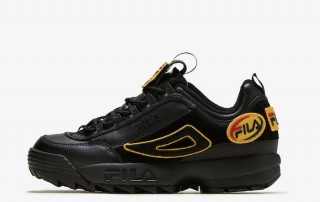 Fila DISRUPTOR Patches blaack yellow 1FM00413 001