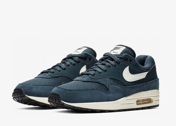 Nike Air Max 1 Armory Navy Sail Sneaker Sale $79.95