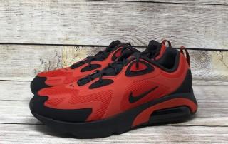 Nike Air Max 200 Habanero Red Oil Grey AQ2568 600 1