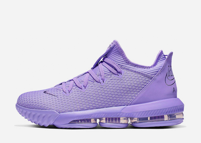 Nike LeBron 16 Low Atomic Violet CI2668 500 side