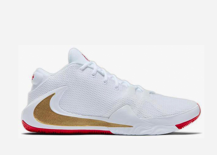 Nike Zoom Freak White Metallic Gold University Red