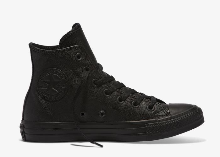 Converse Leather Hi Top triple black