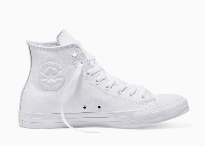 Converse Leather Hi Top triple white