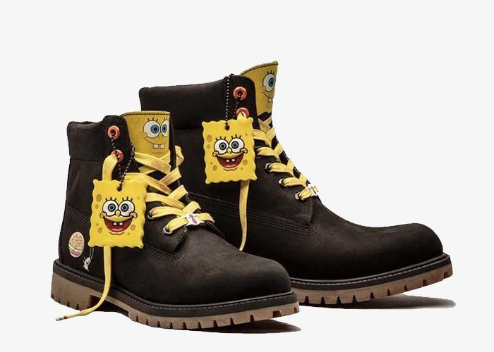 Timberland SpongeBob black yellow